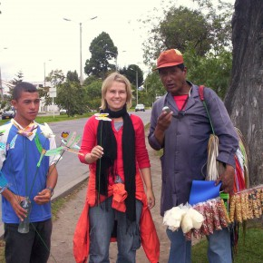 Straßenverkäufer Bogotá